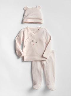 75795a75f Baby Graphic Stripe Beanie Set