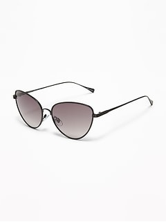 005f3be3c5 Wire-Frame Cat s Eye Sunglasses for Women