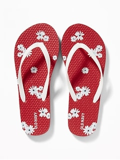 cde63a569ce6 Printed Flip-Flops for Girls