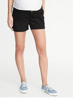 136871d26fc3e Maternity Side-Panel Everyday Shorts - 5-inch inseam