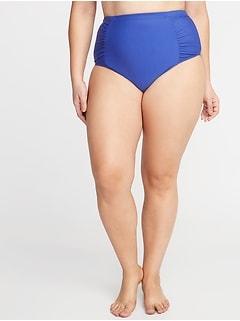 51224633280a2 High-Rise Secret-Slim Plus-Size Swim Bottoms