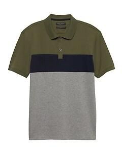 4b9d2a4bb Slim Luxury-Touch Stripe Polo
