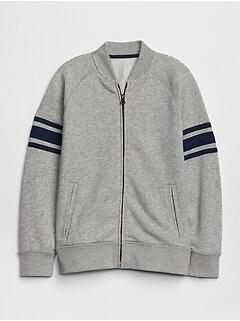 2953f683 Kids Rugby-Stripe Bomber Sweatshirt