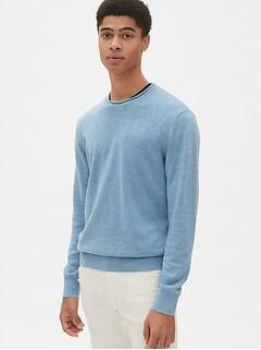 671aeb4d0c3 Crewneck Pullover Sweater in Linen-Cotton