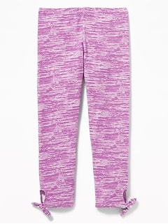 e84014b591caf Cropped Side-Tie Leggings for Girls