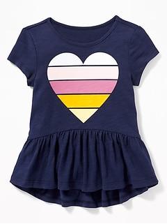 a59f1c7f4f Graphic Jersey Peplum-Hem Tee for Toddler Girls