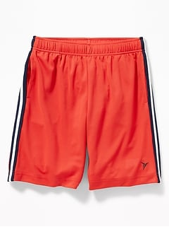 8144ea7cc Go-Dry Mesh Side-Stripe Shorts for Boys