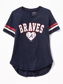 MLB  174 Team-Graphic Sleeve-Stripe Tee for Girls 29893d15180