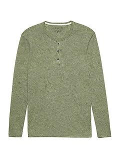 57d698a751 Vintage Long-Sleeve Henley T-Shirt