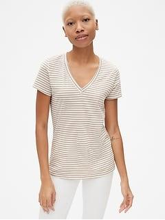 0ae675ed376ac Vintage Wash Stripe V-Neck T-Shirt