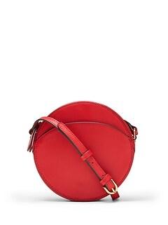 Italian Leather Circle Crossbody Bag