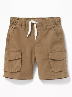 6dd0909c375 Functional Drawstring Pull-On Cargo Shorts for Toddler Boys