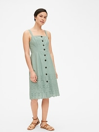 Eyelet Embroidered Apron Dress