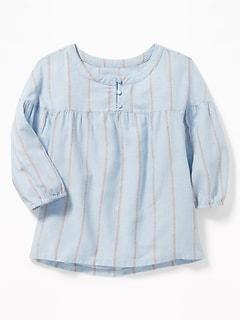 8578e490678e1d Striped 3 4-Sleeve Swing Blouse for Girls