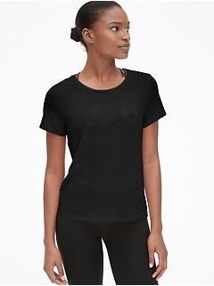 7177336919ebd GapFit Breathe Short Sleeve Tie-Back T-Shirt