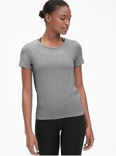 d375980f37062 GapFit Breathe Short Sleeve Tie-Back T-Shirt
