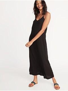 4973a6220c5 Sleeveless V-Neck Maxi Shift Dress for Women
