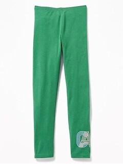 31c470937a516 Graphic Full-Length Jersey Leggings for Girls