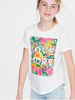 Graphic Crew-Neck Tee for Girls 07c01f26bc5