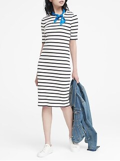 3ff42fb8ecb Stripe Ribbed T-Shirt Dress