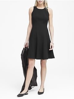 6b5cad938c5 Paneled Fit-and-Flare Dress