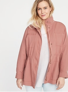 b875c17eeea Soft-Washed Canvas Plus-Size Field Jacket