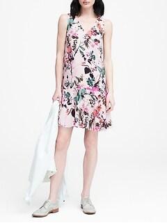 8db77b78493d Floral Drop-Waist Shift Dress