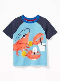 b246860ac Slub-Knit 3-D Sea Critter Raglan Tee for Toddler Boys