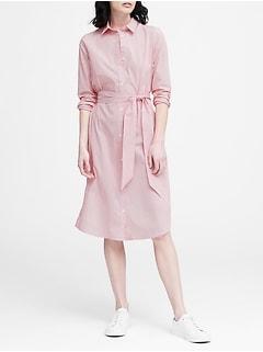 48915e57b53 JAPAN EXCLUSIVE Stripe Tie-Waist Shirt Dress