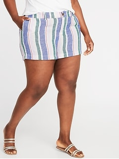 c3cd2a489e16 Mid-Rise Printed Plus-Size Everyday Shorts - 5-inch inseam