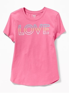 bd5c4fa086571 Graphic Crew-Neck Tee for Girls