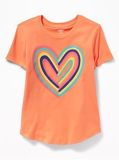 Graphic Crew-Neck Tee for Girls e89b6bac6