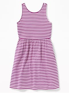 89a5f5c948 Patterned Jersey Fit   Flare Tank Dress for Girls