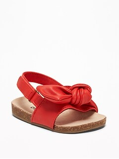 83bc111f3981 Knotted Faux-Leather Sandals for Baby