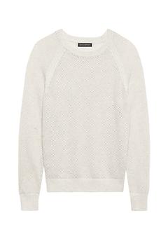 5695a0067017 Merino-Blend Mesh-Knit Sweater