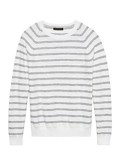 f216118310f Textured Cotton Crew-Neck Sweater