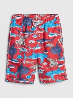 ac5f7f6d84 Kids Print Swim Trunks