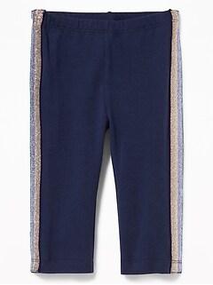 292124d12404 Cropped Side-Stripe Jersey Leggings for Toddler Girls