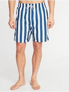 e24d67e8213 Printed Swim Trunks for Men - 8-inch inseam