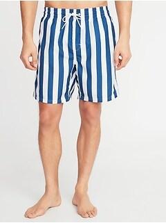 5d24b6910a Printed Swim Trunks for Men - 8-inch inseam