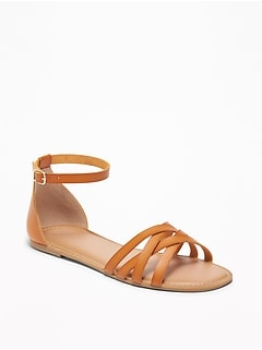a4b4bbb5b63ae Strappy Ankle-Strap Sandals for Women