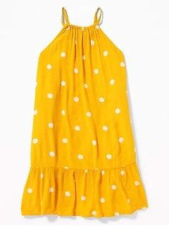 f0e8bd126d Polka-Dot High-Neck Swing Dress for Girls