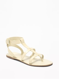 66ee26ac399b Faux-Leather Gladiator Sandals for Women