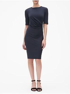 25474733881 Petite Ruched Sheath Dress