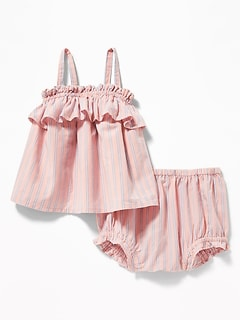 21093ae8120 Ruffle-Trim Tank   Bloomers Set for Baby