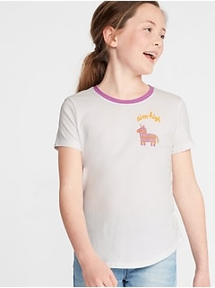 095cee8579644a Graphic Crew-Neck Tee for Girls