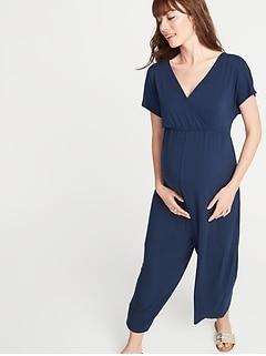 93a8d5e0ec0 Maternity Cross-Front Jersey Jumpsuit