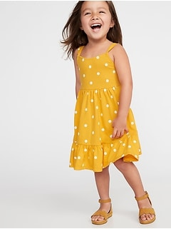 7c9d9c9e4 Printed Jersey Fit & Flare Dress for Toddler Girls