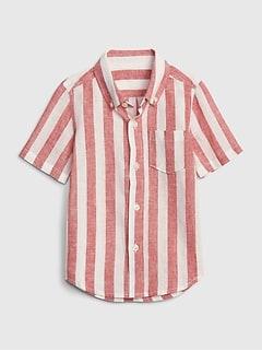16d56d68b Toddler Stripe Short Sleeve Shirt In Linen