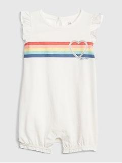 83af465d37 Baby Logo Stripe Shorty One-Piece